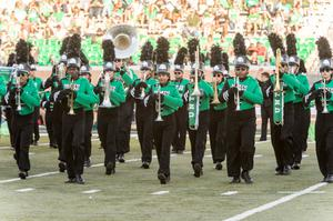 Primary view of object titled '[UNT Green Brigade Marching Band]'.