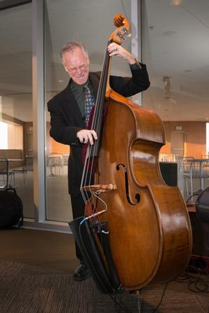 Primary view of object titled '[Man playing Double Bass]'.