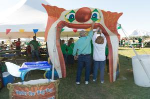 Primary view of object titled '[Under the Big Top at the 2014 Homecoming Events]'.
