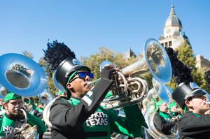 Primary view of object titled '[University of North Texas Marching Band, 2]'.