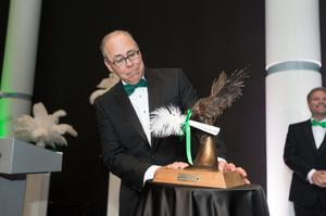 Primary view of object titled '[Neal Smatresk presenting an Award]'.