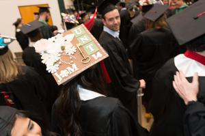 Primary view of object titled '[Floral UNT Graduation Cap]'.