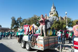 Primary view of object titled '[University of North Texas 2014 Homecoming Parade, 2]'.