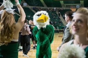 Primary view of object titled '[UNT Mascot Scrappy the Eagle]'.