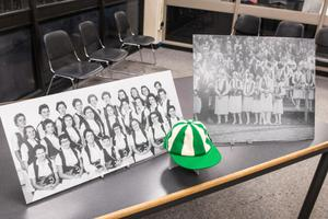 Primary view of object titled '[Special Collections table display at 2014 Day at UNT event, 3]'.