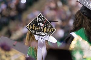Primary view of object titled '[So The Adventure Begins Graduation Cap]'.