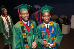 Primary view of object titled '[Undergraduates at commencement, 4]'.