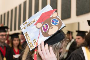 Primary view of object titled '[Teddy Bear Graduation Cap]'.
