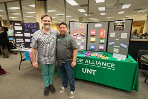Primary view of object titled '[AJ Aguinaga, Student Assistant, UNT Pride Alliance]'.