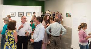 Primary view of object titled '[Large Crowd at Exhibit Reception]'.