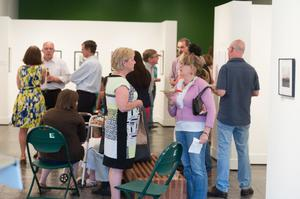 Primary view of object titled '[Crowd of Exhibition Attendees Talking Among Each Other]'.