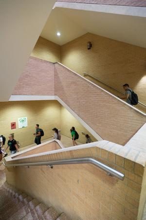 Primary view of [Interior stairwell in the General Academic Building]