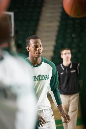 Primary view of object titled '[UNT Basketball Player Muhammed Ahmed]'.