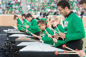 Primary view of object titled '[UNT Marching Band Xylophonists]'.
