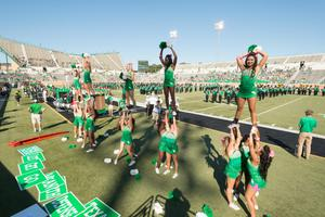 Primary view of object titled '[UNT Cheerleader's Basic Extension Cheer]'.
