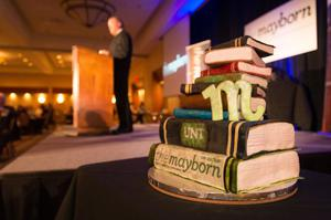 Primary view of object titled '[The Mayborn Book Stack Cake]'.