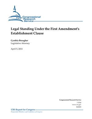 Legal Standing Under the First Amendment's Establishment Clause