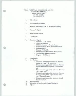 Primary view of object titled '[Board meeting agenda]'.
