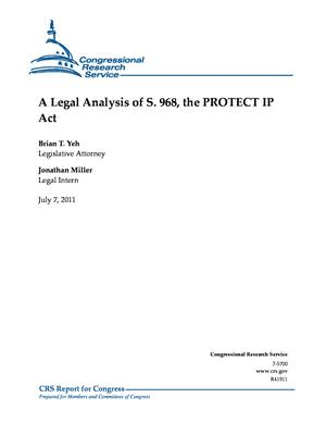 A Legal Analysis of S. 968, the PROTECT IP Act
