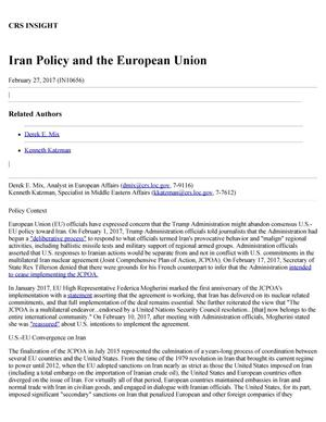 Iran Policy and the European Union