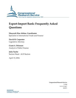 Export-Import Bank: Frequently Asked Questions