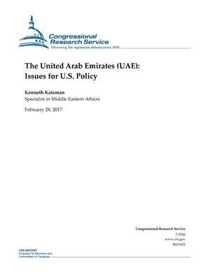 The United Arab Emirates (UAE): Issues for U.S. Policy