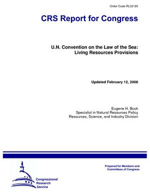 U.N. Convention on the Law of the Sea: Living Resources Provisions