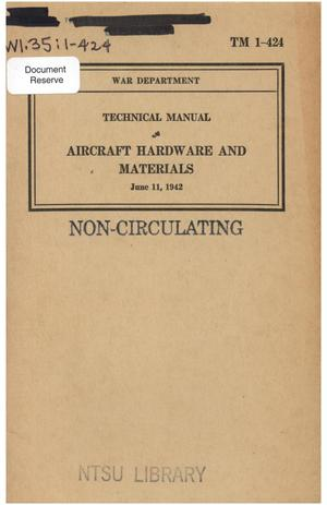 Primary view of object titled 'Aircraft hardware and materials.'.