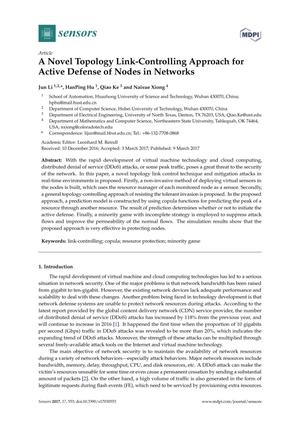 A Novel Topology Link-Controlling Approach for Active Defense of Nodes in Networks