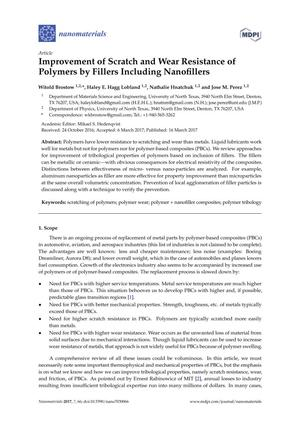 Improvement of Scratch and Wear Resistance of Polymers by Fillers Including Nanofillers
