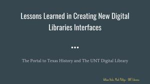 Lessons Learned in Creating New Digital Libraries Interfaces