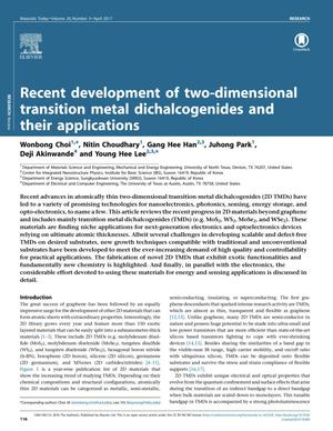 Recent development of two-dimensional transition metal dichalcogenides and their applications