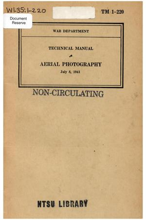 Primary view of object titled 'Aerial photography.'.