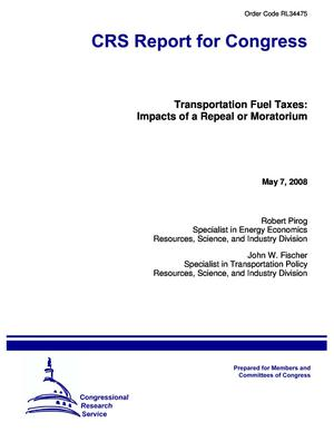 Transportation Fuel Taxes: Impacts of a Repeal or Moratorium
