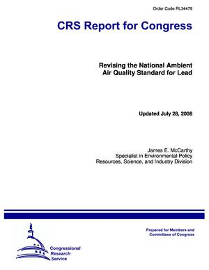 Revising the National Ambient Air Quality Standard for Lead