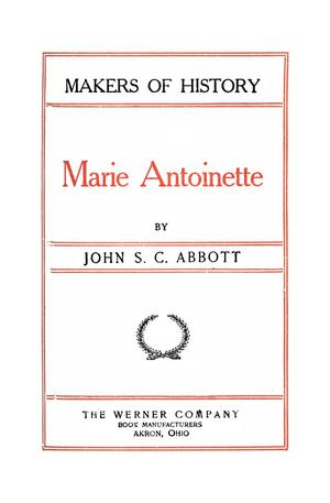 Primary view of object titled 'Marie Antoinette'.