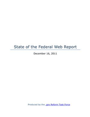State of the Federal Web Report