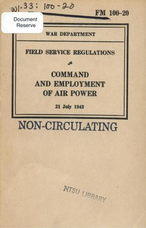 Primary view of object titled 'Command and employment of air power.'.