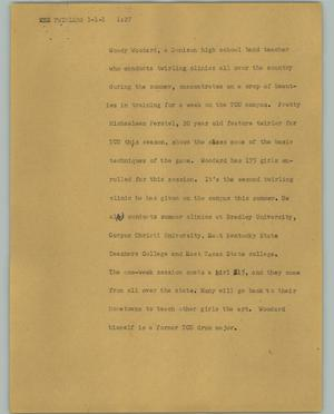 Primary view of [News Script: Twirlers]