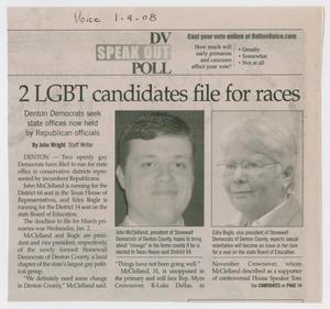 Primary view of object titled '[Article on LGBT Candidates]'.