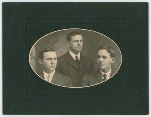 Primary view of object titled '[Byrd Williams, Jr., with brothers]'.