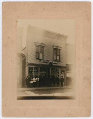 Primary view of object titled '[People at the Merchant Hotel and Restaurant]'.