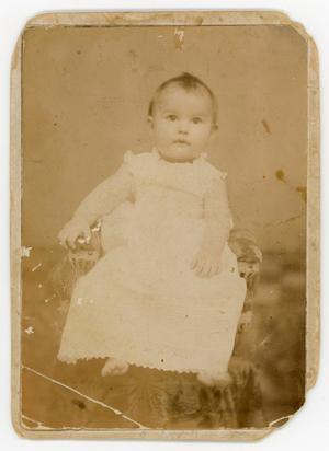 Primary view of object titled '[Baby photo of Irene Biffle]'.