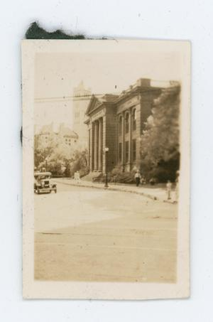 Primary view of [Photo of Fort Worth Carnegie Library from the Byrd Williams III scrapbook]