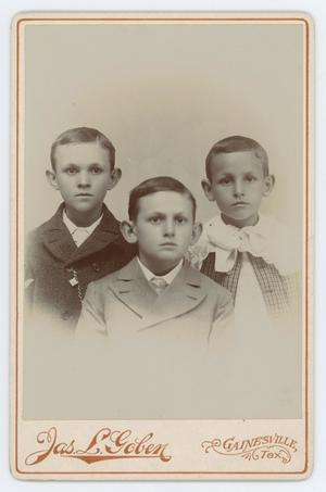 Primary view of object titled '[Byrd Williams, Jr. with brothers]'.