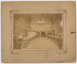 Primary view of object titled '[Interior of Hall, Williams, & Co. Merchants store]'.