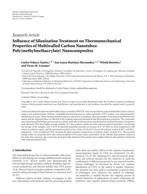 Influence of Silanization Treatment on Thermomechanical Properties of Multiwalled Carbon Nanotubes: Poly(methylmethacrylate) Nanocomposites