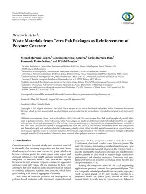 Primary view of object titled 'Waste Materials from Tetra Pak Packages as Reinforcement of Polymer Concrete'.
