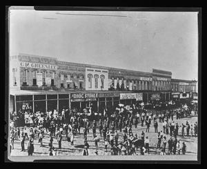 Primary view of [A funeral in the Denton square]