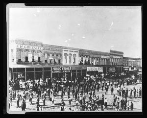 Primary view of [A funeral on the Denton square]